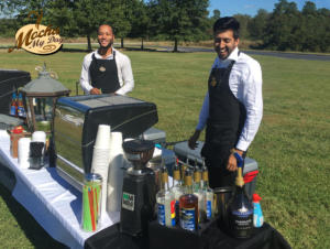 Coffee Wedding Outside